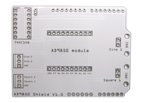 AD9850 Shield PCB