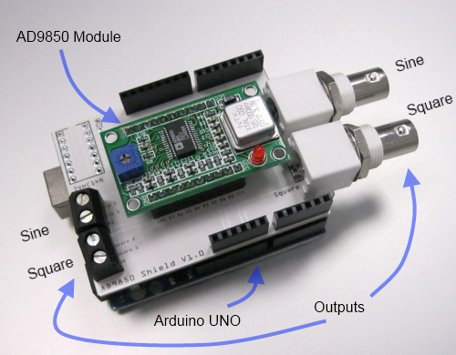 AD9850 Shield Frequenz Generator