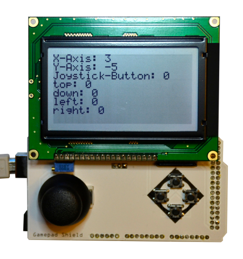 Arduino Mega Gamepad Shield LCD